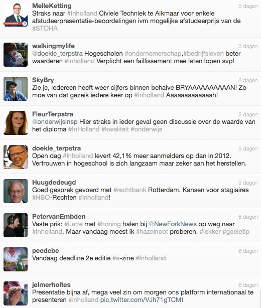 inholland tweets
